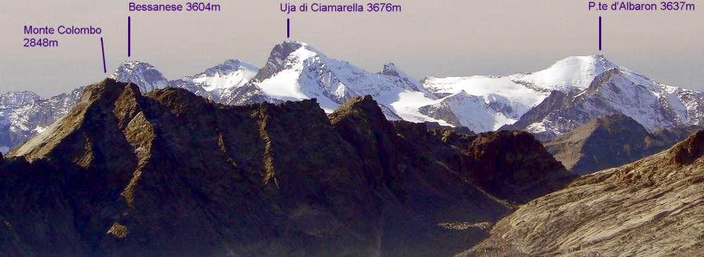 The chain Bessanese-Ciamarella-Albaron