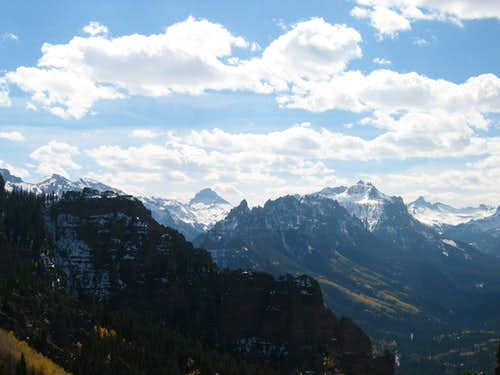 Uncompahgre and surrounding peaks