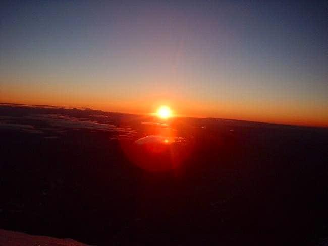 Sunrise (5:30 am) while...