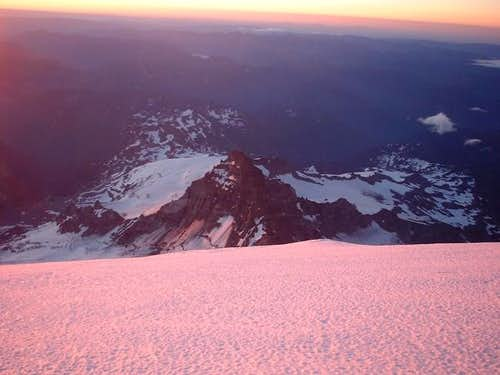 Looking down at Little Tahoma...