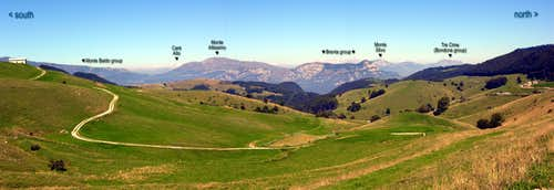 Monti Lessini: pano toward W