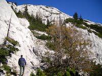 AJ II hiking upwards