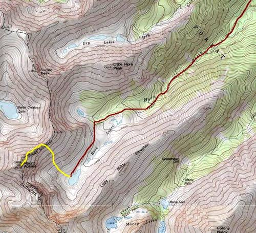 Route on Mount Adams