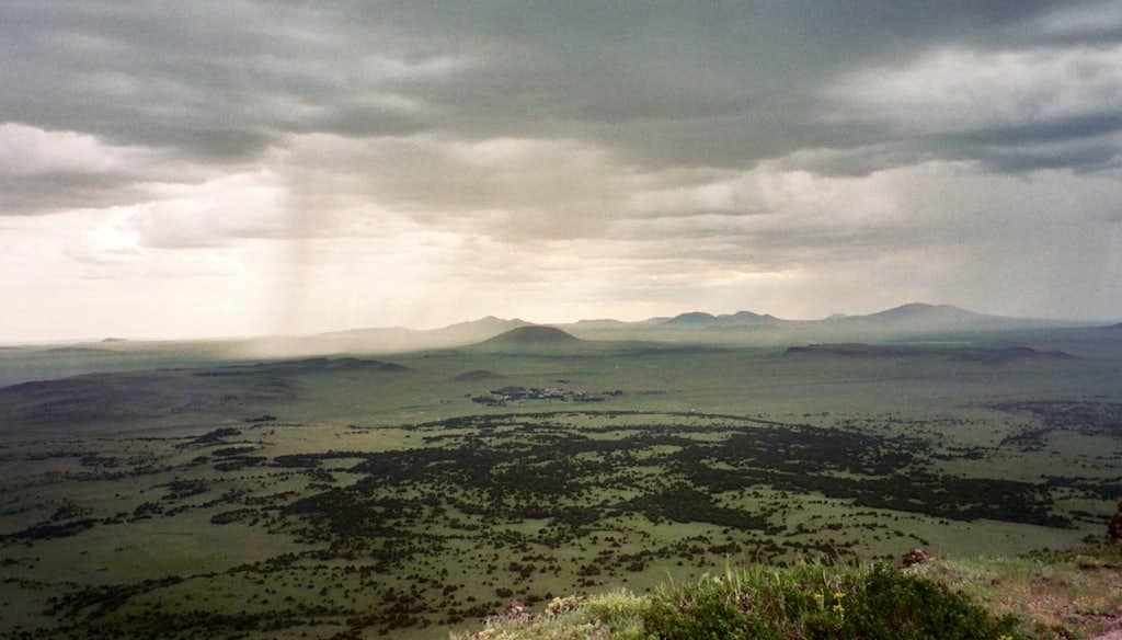 Capulin Volcano rainstorm