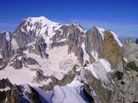 Striking view on Mont Blanc range