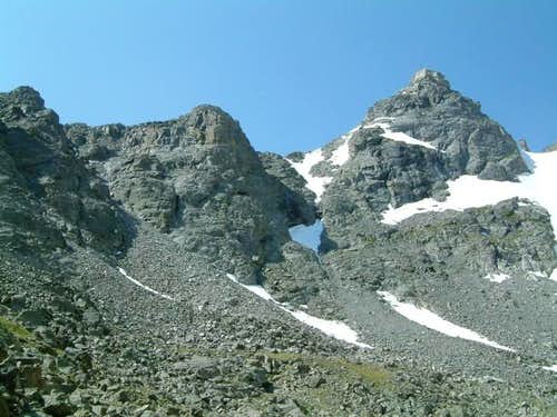 Overall view of Navajo Peak