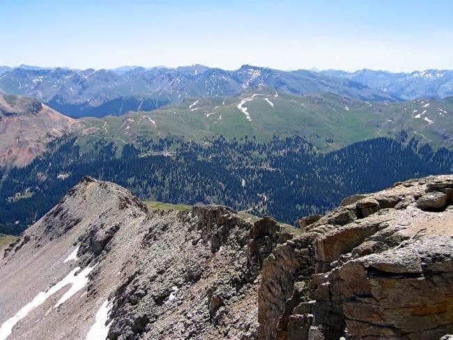 July 9, 2003 The east ridge...