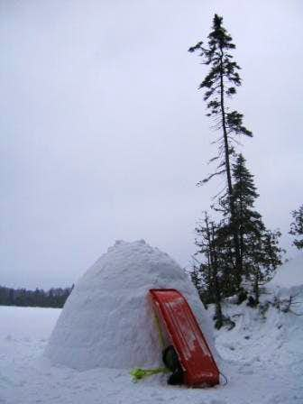 Igloo in BWCA