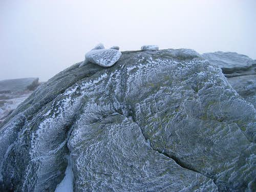 Icy Summit of Camels Hump