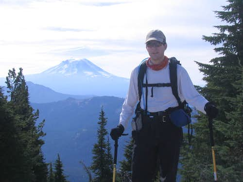Me w/ Mt Adams from Klickitat Ridge