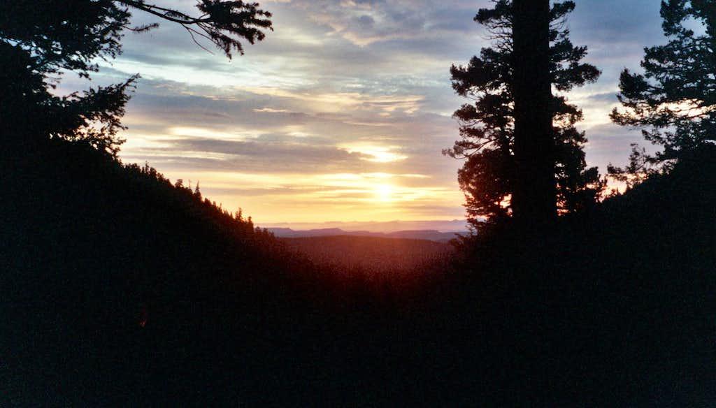 Dawn at Sawmill Camp, Philmont