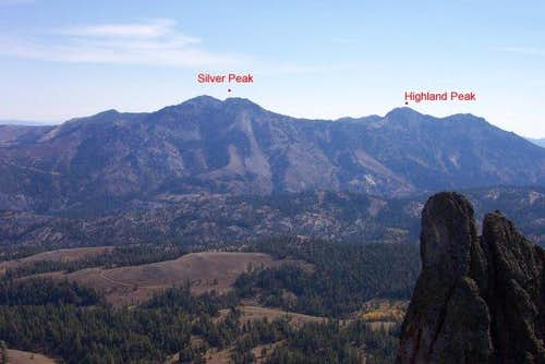 Highland Peak viewed from the...