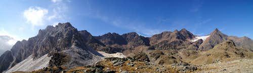 Moarer Weißen (2867m), Schwarzseespitze (2988m), Timmelspitze (3033m), Nock (3185m), Botzer (3251m) and Hochgewand (3196m)
