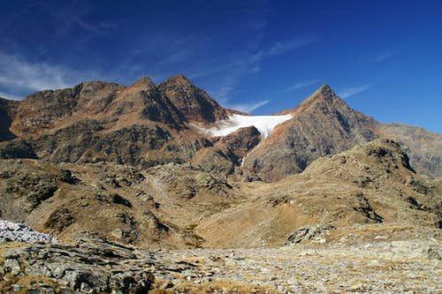 Nock (3185m), Botzer (3251m) and Hochgewand (3196m)