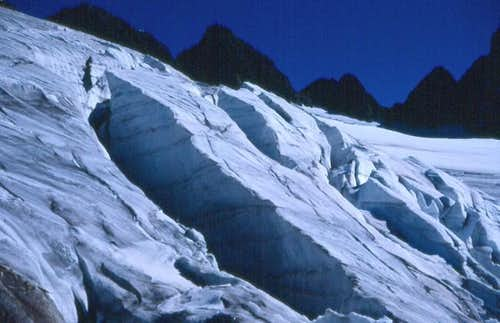 Crevasses on the small...