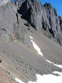 Second Scree Ramp to the North