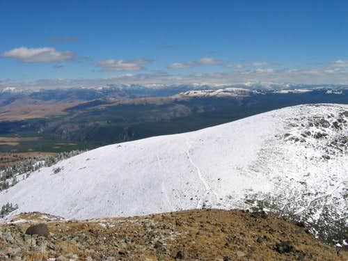 View near summit in September