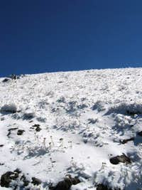 Looking up on way to summit