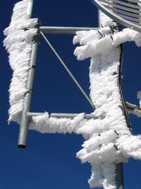 Frost on the Telecommunications Equipment on Summit