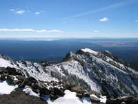 Summit view of ascent ridge