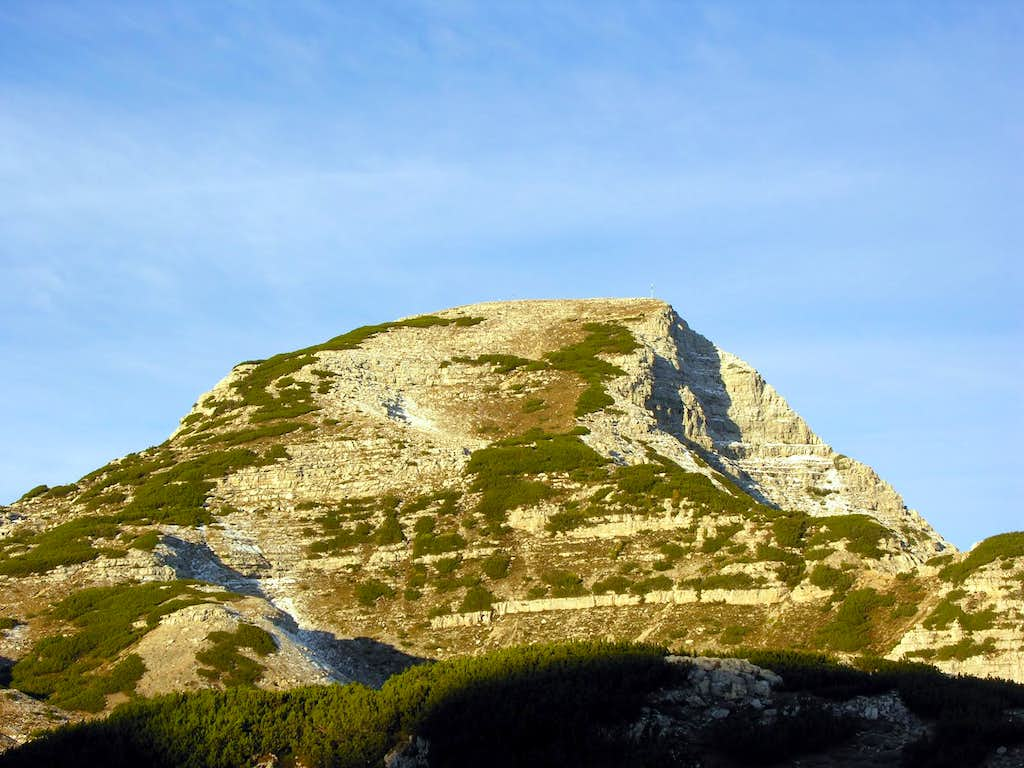 Cima Dodici from south: the sunrise