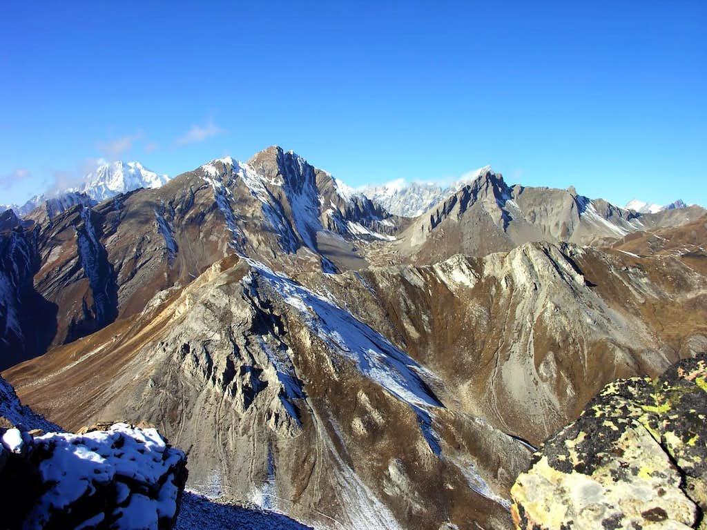 Grande Rochère <i>3326m</i> and Aiguille de Bonalè <i>3201m</i> from Testa Serena