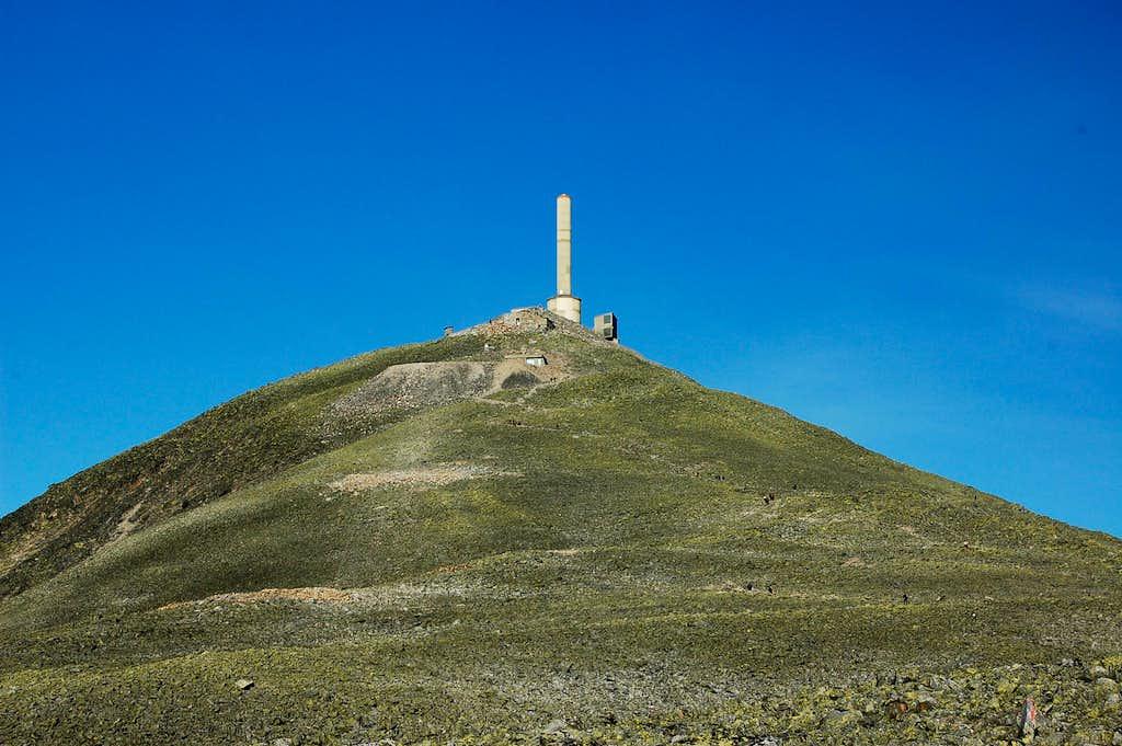 NATO radio tower near summit of Gaustatoppen