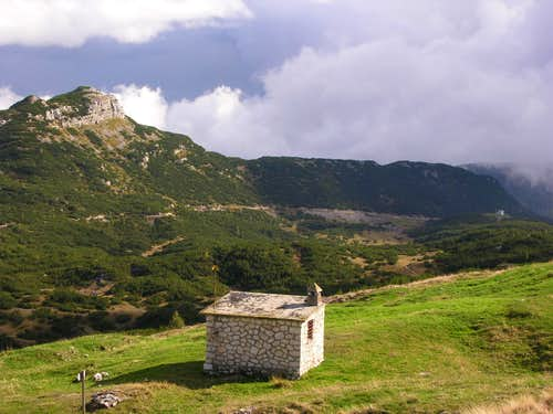 Cima Dodici from south: Bivacco Italia