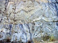 Folded and Faulted Marble Rock