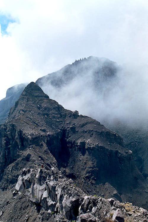 Peak 17 with Raung Peak Behind