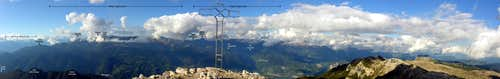 Cima Dodici from south: summit panorama