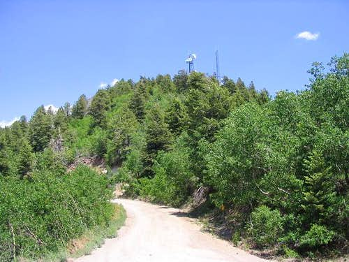The summit of Bill Williams Mountain