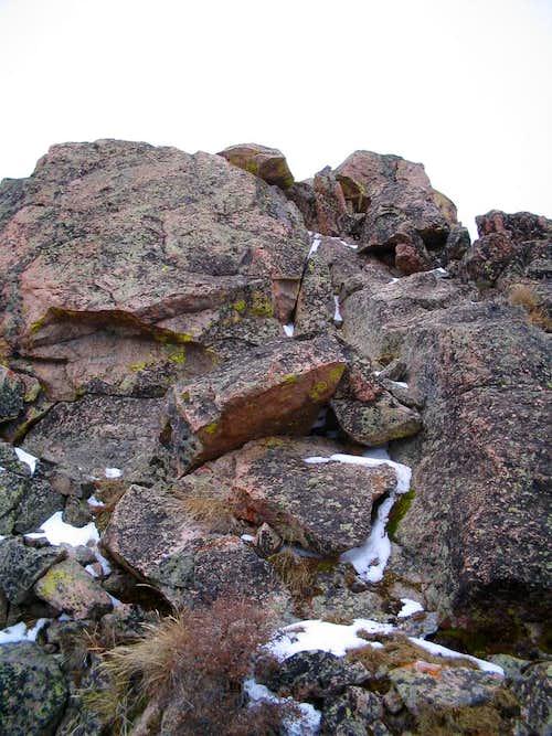 Crux of NE Ridge route