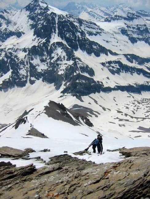 Just below the summit 1st...