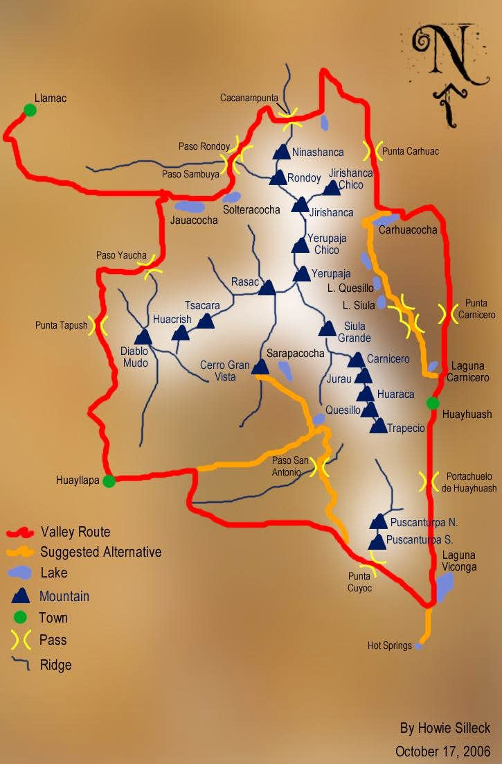 Huayhaush Map