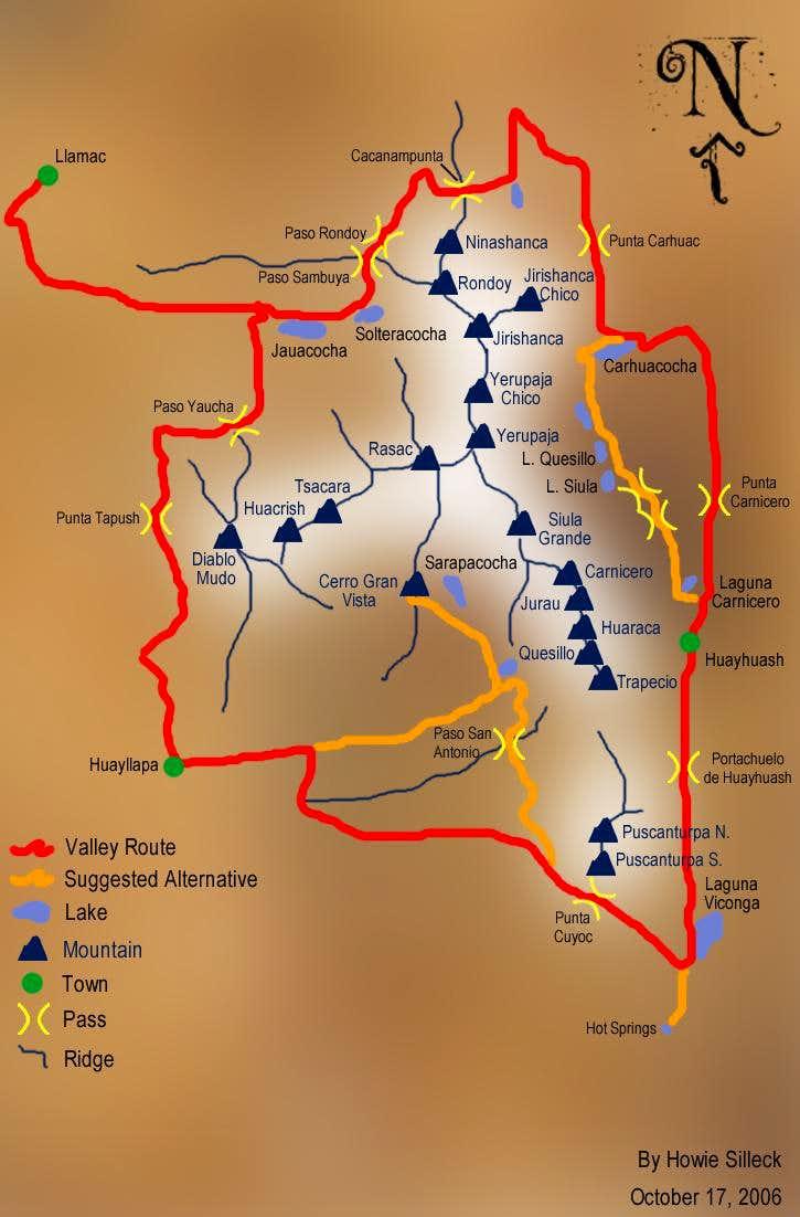 Huayhaush Map