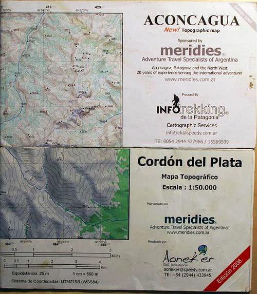 Meridies Maps - Aconcagua & Cordon del Plata