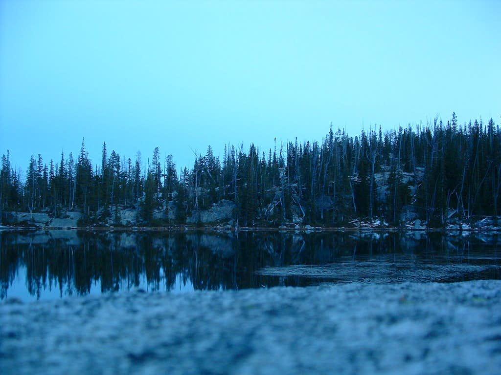 Baker Lake in the Dark