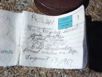 Gendarme Peak Register