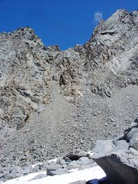 Jigsaw Pass from below