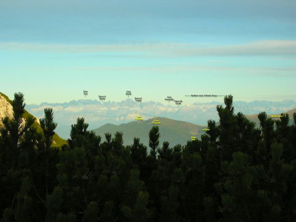 Busa delle Dodese bivouac: viewing toward west