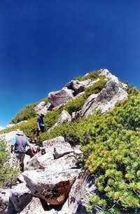 Ascending the South ridge...
