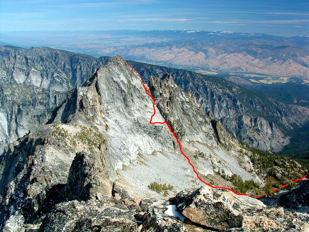 Highlighted Route up North Trapper