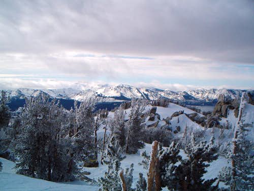 Mount Tallac (center) seen from Heavenly Ski Resort