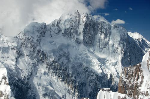 North Face of unclimbed Kuk Sar 2 (6925m)