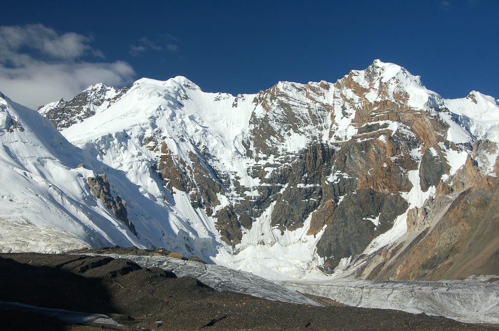 View to Ghorhil Sar (left) from our base camp