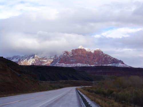 Driving towards Zion