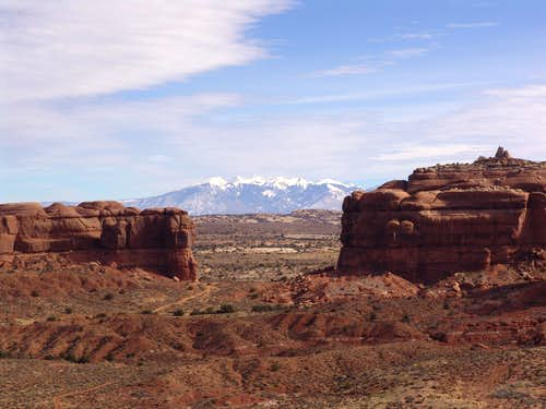 La Sal Mountains from Moab