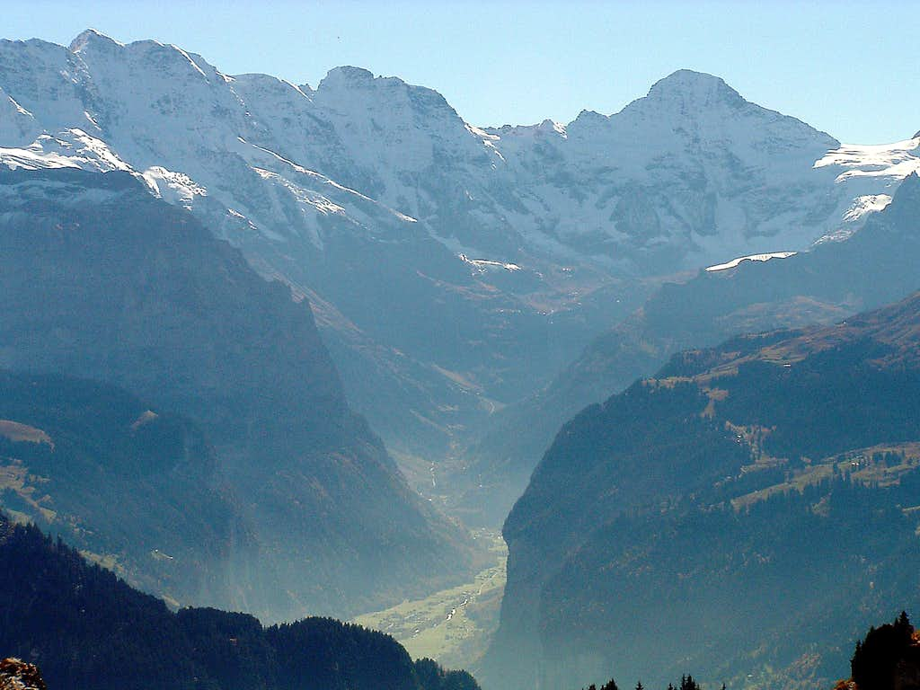 Breithorn and Lauterbrunnen valley