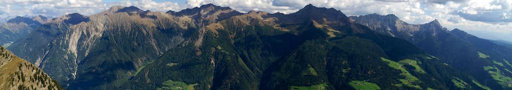 Summit Panorama Muthspitze: Sarntal Alps